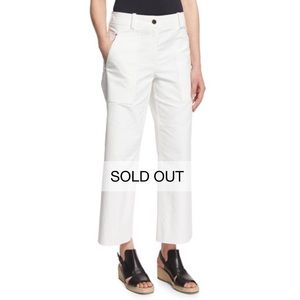 Rag & Bone Grace Cropped Chino in White